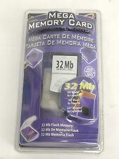 Intec 32 MB Mega Memory Card For Nintendo Gamecube Brand New Sealed