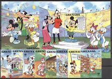 Walt Disney, Olympiade - Grenada - 1723-1730, Bl.200-201 ** MNH 1988