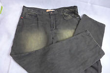 Mens Indigo Red Denim Company Jeans Pants Size 40 Black Acid Wash
