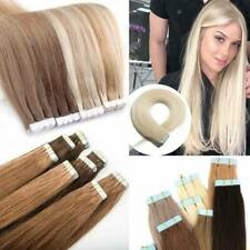 Remy Human Hair Extensions 20pcs 14-26inch Seamless Tape In Skin Weft Hair