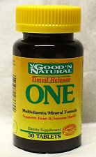 Free Shipping Good'N Natural One Multiple Vitamin and Mineral Supplement 30 Tabs