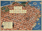 1940+Pictorial+11x15+Birds+View+Merry-maker%27s+Map+of+San+Francisco+Wall+Poster