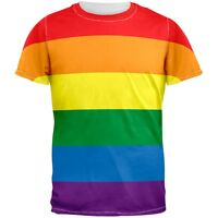 Rainbow Gay Pride All Over Adult T-Shirt