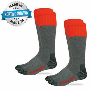 Realtree Mens Merino Wool Tall Boot Socks Steel Toe Ultra-Dri 2 Pair Pack