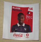 "Image Coca-Cola Sticker #14 ""Blaise MATUIDI"" France PANINI Euro 2016"