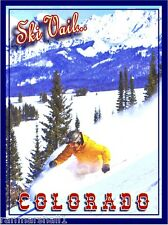 Ski Vail Colorado Winter United States America Travel Advertisement Art Poster