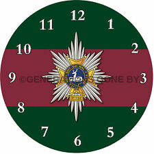 WORCESTERSHIRE & SHERWOOD FORESTERS GLASS WALL CLOCK