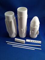 SpaceX Crew Dragon Flying Model Rocket Barebones Kit