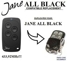 JANE ALL BLACK compatibile telecomando radiocomando, CLONE 4-canali 433,92Mhz
