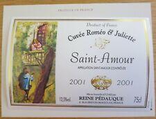 Etiquettes vin FRANCE REINE PEDAUQUE SAINT AMOUR C Romeo Juliette 01wine labels