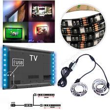 2X 50CM 5V 5050 RGB LED Strip Light Colour Changing USB TV PC Back Mood Lighting