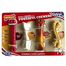 Nylabone Dog Chews For Powerful Chewers 4 Pack Durable Long Lasting Flavored New