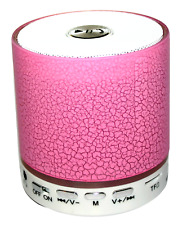Wireless Speaker Bluetooth Multi Colours Lamp Mobile Phone Handsfree Pink