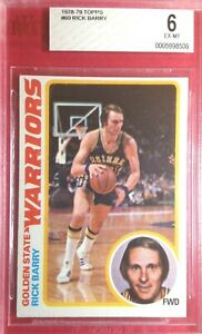 1978-79 Topps #60 RICK BARRY BVG 6 Basketball Card Warriors