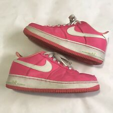 NIKE Air Force One AF1 Low Pink White Swoosh size 6 Youth (B3)