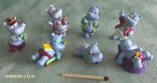 7 Happy Hippos Nilpferd Ferrero Ü Ei  Figuren alt Sammlung