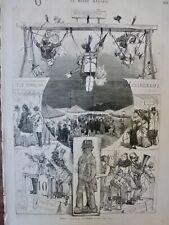 1873 CARNAVAL PARIS FOIRE PAIN EPICE JEU CHAPITEAU MUSICIEN COSTUME