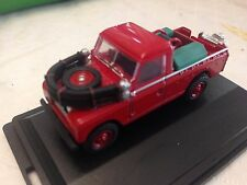 Nice 1/76 RED LAND ROVER SERIES II FIRE APPLIANCE Oxford Diecast Swansea Wales