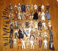 Star Wars Huge Lot of 50 Figures with Weapons and Accessories L