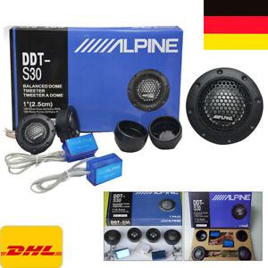 1 Paar 2x Alpine Hochtöner Auto 4 Ohm Lautsprecher Tweeter Dome Frequenzweichen