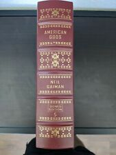 American Gods by NEIL GAIMAN SIGNED Edition Easton Press Leather Hardcover