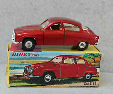 Dinky 156 Saab 96 Metallic Red Very Near Mint Boxed Superb Example