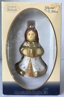 Goebel Hummel Glass Angel Christmas Ornament Mouth Blown Hand Decorated in Box