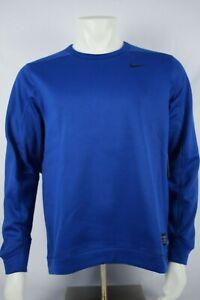 NWT! Mens Nike Golf Therma Repel Crewneck Sweatshirt BLUE 932342 431 sz M-XL