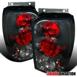 For 1998-2001 Ford Explorer Mercury Mountaineer Smoke Tail Lights Lamps 99 00