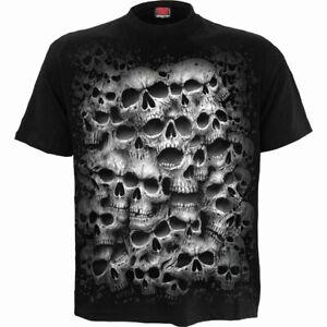 SPIRAL DIRECT TWISTED SKULL T-Shirt Biker/Grim Reaper/Skull/Gothic/Top/Tee/Death