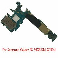 For Samsung Galaxy S8 64GB SM-G950U Unlocked Parts Logic Board Main Motherboard
