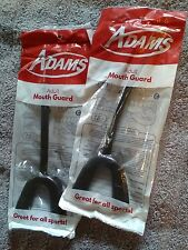 2 New Sealed Adams Adult Plastic Mouth Guards With Straps