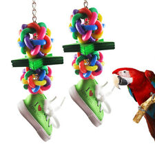 Funny Pet Bird Parrot Parakeet Budgie Cage Hammock Swing  Hanging  Shoes Toys