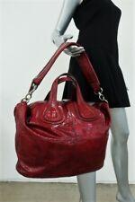 Givenchy Nightingale Medium Satchel Red Crinkled Patent Leather Shoulder Bag