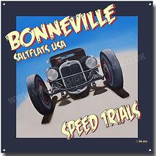 Bonneville Salt Flats velocidad ensayos Cuadrado Letrero De Metal (A3) Tamaño. Americana señal.