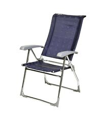 Dukdalf Aspen Folding Caravan Chair Blue - 2017 Model - 8 Position Recline
