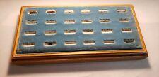 Vintage Jewelry Store Dealer Display Velvet Wood Presentation Ring Tray