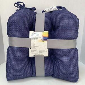 Fiesta 2 Pack Chair Pads Blues / 16 x 17 Cobalt Lapis Cushions Fiestaware NWT