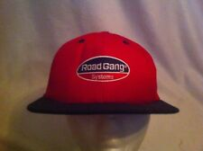 Road Gang Systems Baseball Cap Red & Black Snapback Hat Trucker