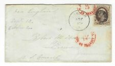 London OH to US Consul Bremen Germany 10c #150 Red NY PAID ALL TRANSIT