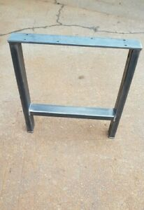SINGLE 'H' DESIGN RETRO INDUSTRIAL STEEL METAL TABLE COFFEE BENCH LEG DESK