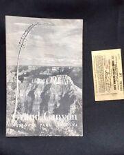 Vintage GRAND CANYON National Park Arizona Brochure & Park Pass 1952