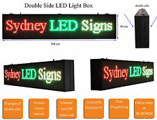 LED MESSAGE SCROLLING SIGN DOUBLE SIDE  LIGHT BOX  TRI COLOUR 164cm BY 36cm high