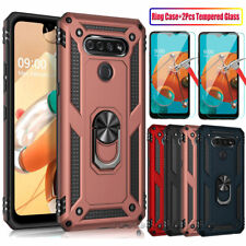 New listing For Lg K51 / Lg Reflect Phone Case, Ring Kickstand + Tempered Glass Protector