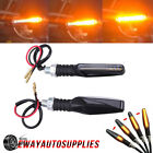 Motorcycle 12LED Amber Turn Signal Sequential Blinker Lights Indicator Universal