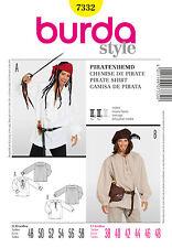 burda style Schnittmuster Nr 7332 Piratenhemd Gr. 48 - 58