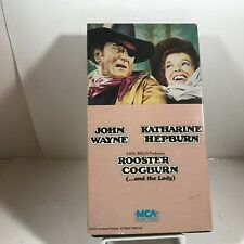 VHS Tape Rooster Cogburn Starring JOHN WAYNE Katharine Hepburn