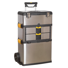Heavy Duty Toolbox Mobile Stainless Steel Composite Toolbox Trolley