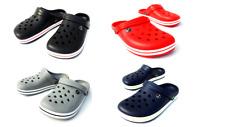 Mens Womens Kids Crocs type FlipFlops Sandals Black Navy Red Grey size 3.5-7