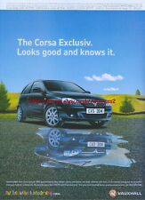 Vauxhall Corsa Exclusiv 2004 Magazine Advert #3482